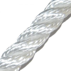 T.c. 064516WI 3-strengs polyester 16mm wit Tuned Rigs & ropes