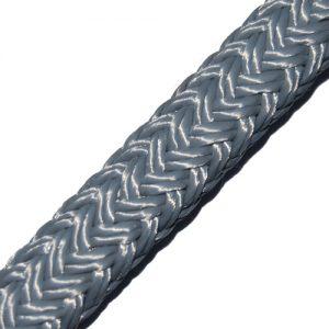 064216ZI Gevlochten landvast 16mm grijs Tuned Rigs & ropes