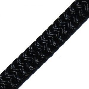 064220ZW Gevlochten landvast 20mm zwart Tuned Rigs & ropes